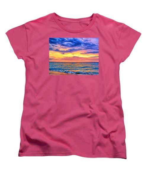 Caribbean Sunset Women's T-Shirt (Standard Cut) by Dominic Piperata