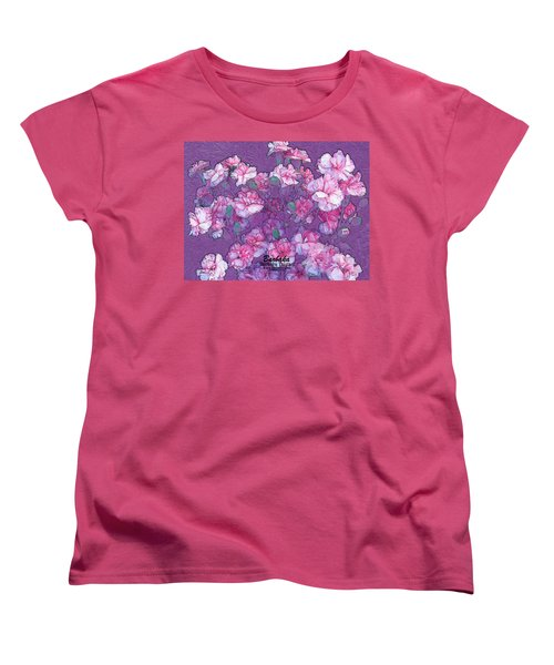 Women's T-Shirt (Standard Cut) featuring the digital art Carnation Inspired Art by Barbara Tristan
