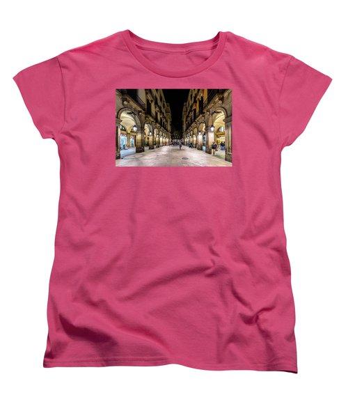Carrer De Colom Women's T-Shirt (Standard Cut) by Randy Scherkenbach