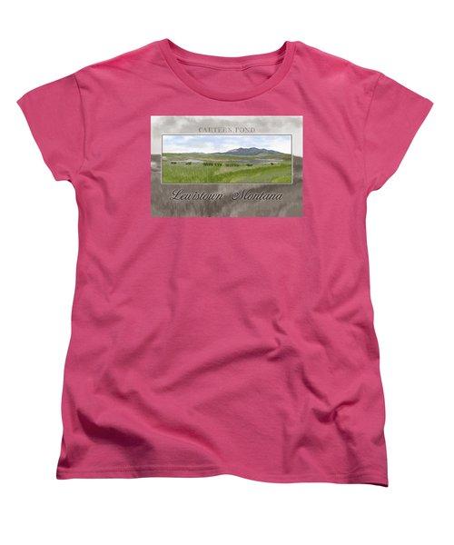 Women's T-Shirt (Standard Cut) featuring the digital art Carter's Pond by Susan Kinney