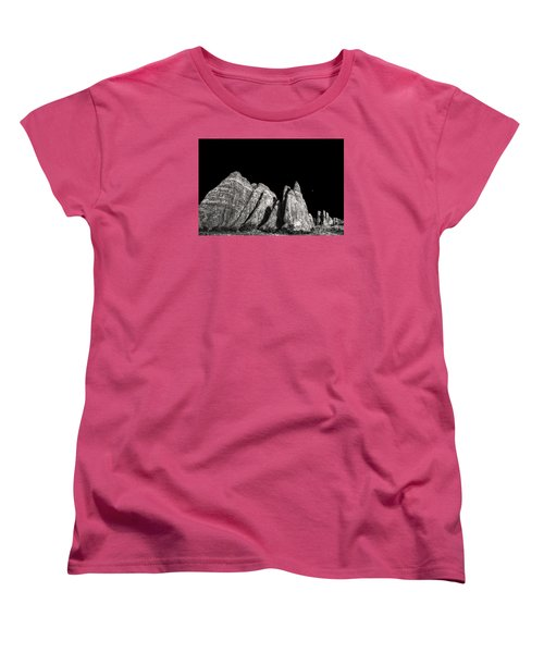 Women's T-Shirt (Standard Cut) featuring the digital art Carved By The Hands Of Ancient Gods by William Fields