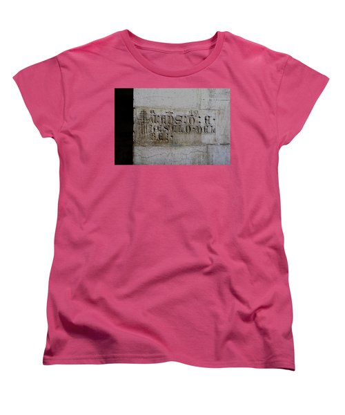 Carved In Stone Women's T-Shirt (Standard Cut) by Lorraine Devon Wilke