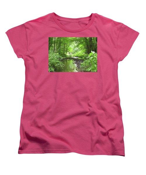 Women's T-Shirt (Standard Cut) featuring the photograph Carver Creek by Kimberly Mackowski