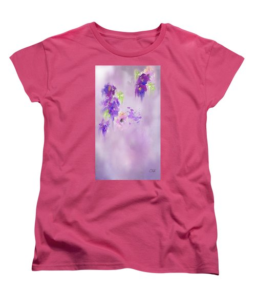 Cascading Orchids Women's T-Shirt (Standard Cut) by Colleen Taylor