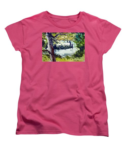 Catching Summer Dreams Framed Matted Glassed Women's T-Shirt (Standard Cut)