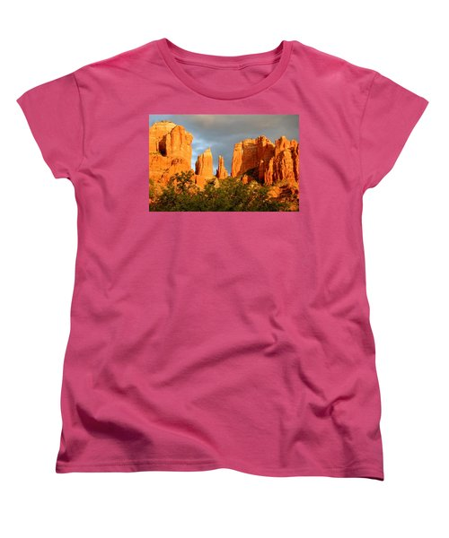 Cathedral Formation Women's T-Shirt (Standard Cut) by Ellen Heaverlo