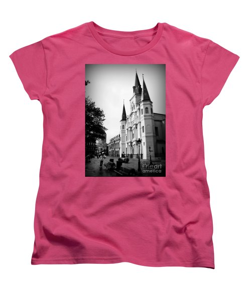 Cathedral Morning 2 Women's T-Shirt (Standard Cut) by Perry Webster