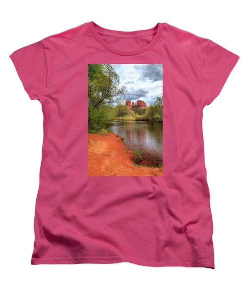 Women's T-Shirt (Standard Cut) featuring the photograph Cathedral Rock From Oak Creek by James Eddy