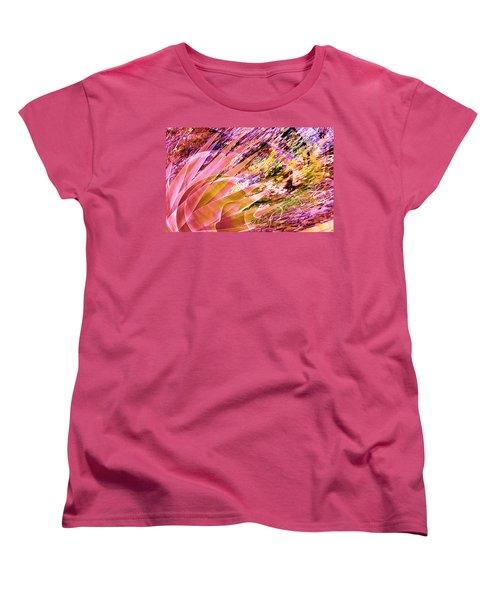 Celebration In Pink Women's T-Shirt (Standard Cut) by Stephanie Grant
