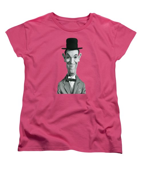 Celebrity Sunday - Stan Laurel Women's T-Shirt (Standard Cut) by Rob Snow