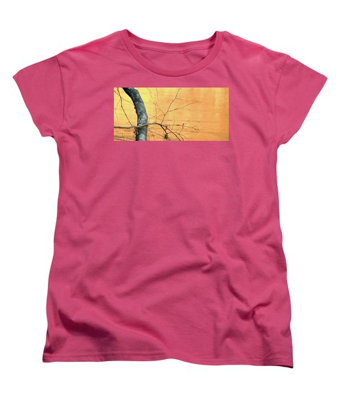 Women's T-Shirt (Standard Cut) featuring the photograph Chagrin River Gold by Bruce Patrick Smith