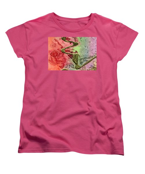 Women's T-Shirt (Standard Cut) featuring the mixed media Changes by Angela L Walker