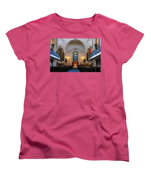 Chapel Interior - Us Naval Academy Women's T-Shirt (Standard Cut) by Lou Ford