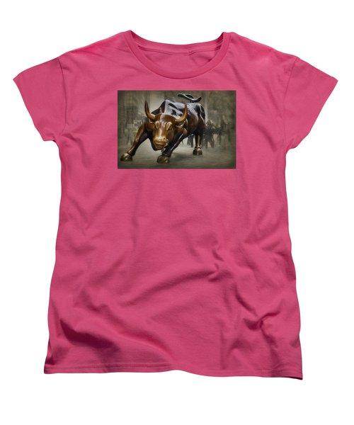 Charging Bull Women's T-Shirt (Standard Cut) by Dyle Warren