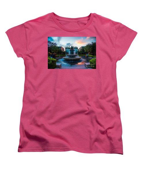 Charleston Pineapple Sunset Women's T-Shirt (Standard Cut) by Robert Loe