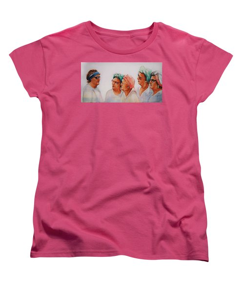 Paradise Trailer Park Welcoming Committee Women's T-Shirt (Standard Cut) by Jean Cormier