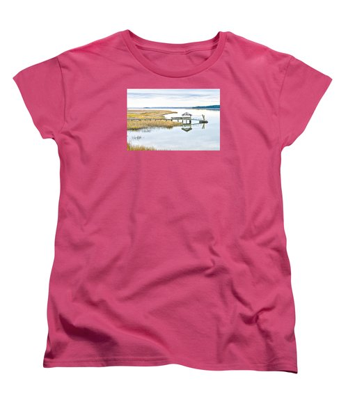 Chechessee Creek Dock Women's T-Shirt (Standard Cut) by Scott Hansen