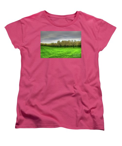 Cherry Trees Forever Women's T-Shirt (Standard Cut) by Randy Pollard