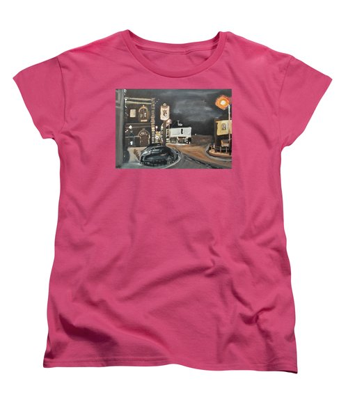 Chertsey At Night 1 Women's T-Shirt (Standard Cut) by Carole Robins
