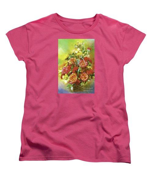 Women's T-Shirt (Standard Cut) featuring the photograph Cheryls Bouquet by Ken Frischkorn