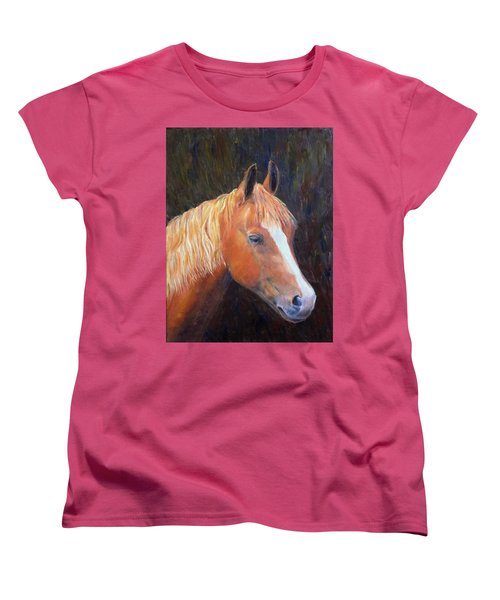 Women's T-Shirt (Standard Cut) featuring the painting Chestnut by Elizabeth Lock