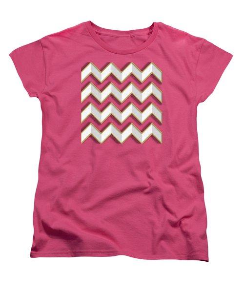 Chevrons - Gold Edges Women's T-Shirt (Standard Cut) by Chuck Staley