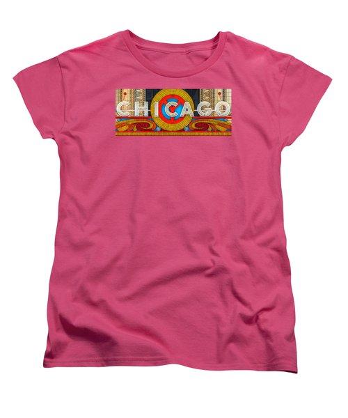 Chicago Theatre Sign Ver2 Dsc2176 Women's T-Shirt (Standard Cut) by Raymond Kunst