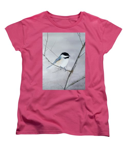 Chickadee II Women's T-Shirt (Standard Cut) by Laurel Best