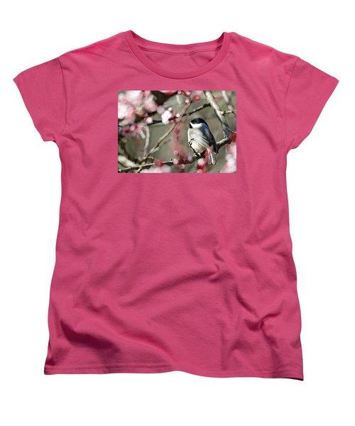 Chickadee Women's T-Shirt (Standard Cut) by Trina Ansel