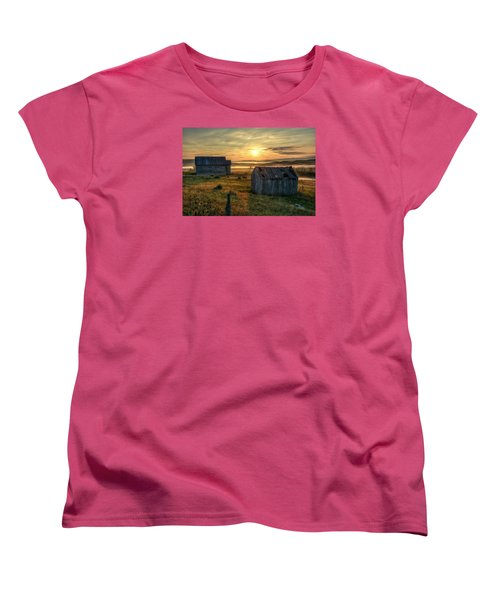 Chicken Creek Schoolhouse Women's T-Shirt (Standard Cut) by Fiskr Larsen