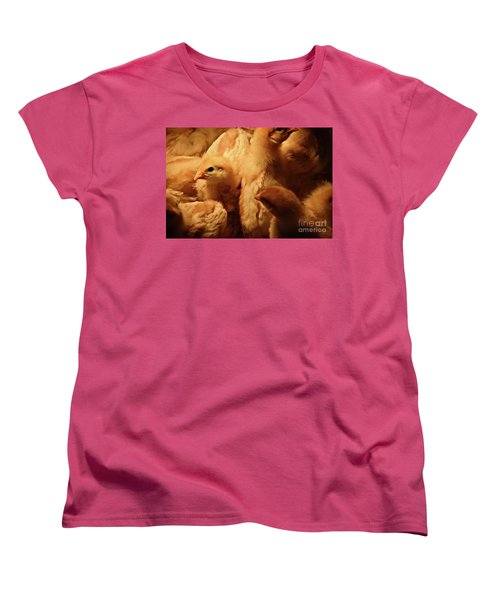 Women's T-Shirt (Standard Cut) featuring the photograph Chicks by Mary Machare