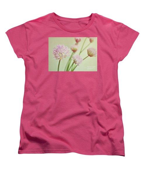 Chives In Flower Women's T-Shirt (Standard Cut) by Lyn Randle