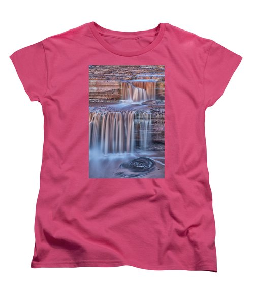 Chocolate Swirls Women's T-Shirt (Standard Cut) by Tom Kelly