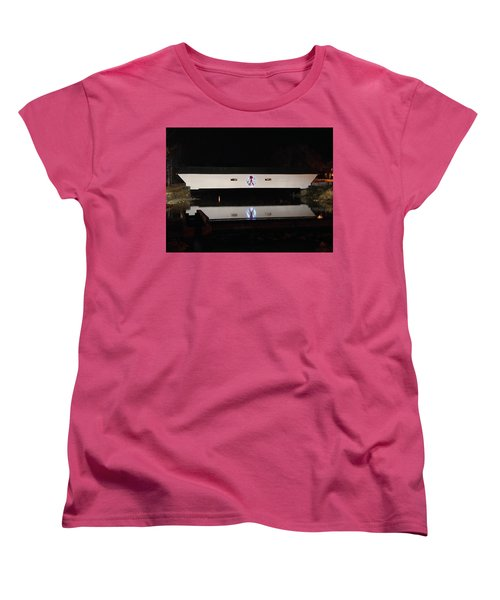 Christmas Covered Bridge Women's T-Shirt (Standard Cut)