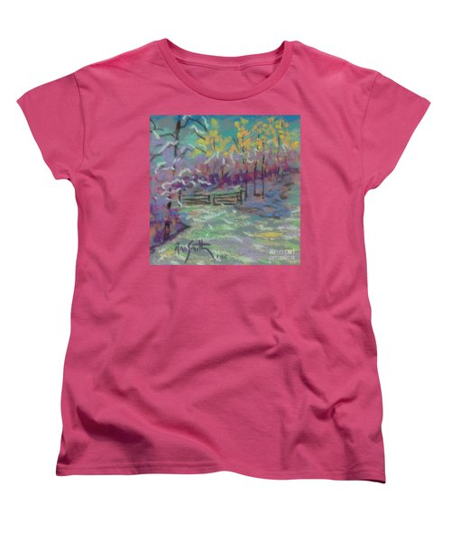 Christmas Day Sketch Women's T-Shirt (Standard Cut) by Rae  Smith PAC