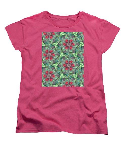 Christmas Flowers Women's T-Shirt (Standard Cut) by Maria Watt