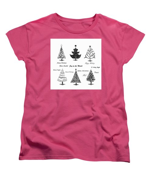 Women's T-Shirt (Standard Cut) featuring the photograph Christmas Illustration by Stephanie Frey