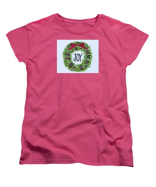 Women's T-Shirt (Standard Cut) featuring the painting Christmas Joy by Elizabeth Robinette Tyndall