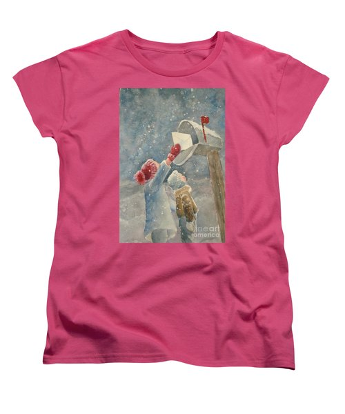 Christmas Letter Women's T-Shirt (Standard Cut) by Marilyn Jacobson
