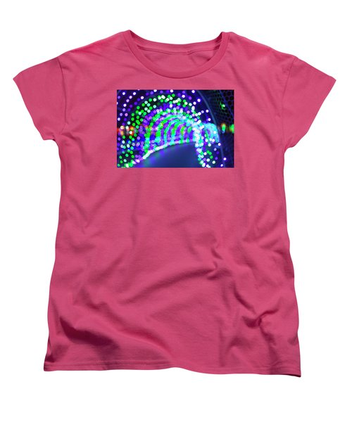 Christmas Lights Decoration Blurred Defocused Bokeh Women's T-Shirt (Standard Fit)