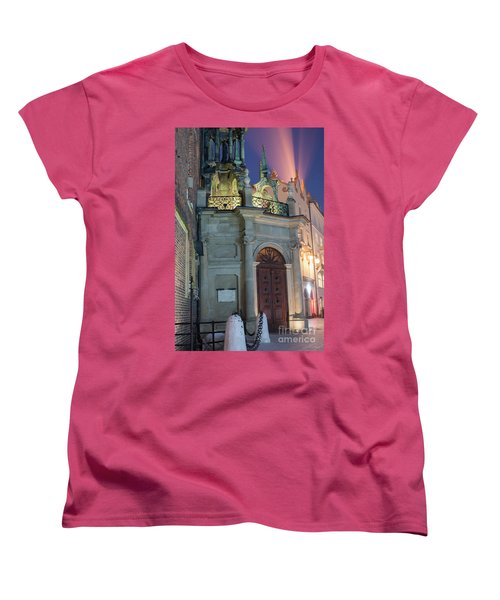 Women's T-Shirt (Standard Cut) featuring the photograph Church Door by Juli Scalzi