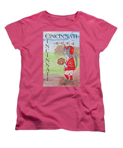 Cinci Reds Cat Women's T-Shirt (Standard Cut)