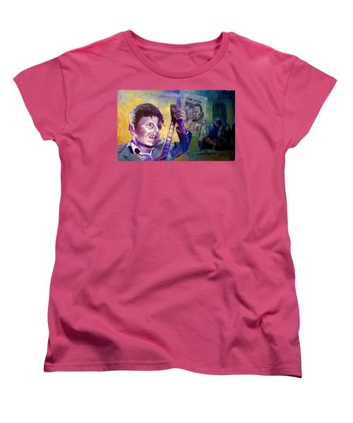Women's T-Shirt (Standard Cut) featuring the painting Cinema Paradiso by Paul Weerasekera