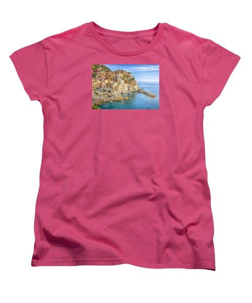 Cinque Terre Women's T-Shirt (Standard Cut) by Brent Durken