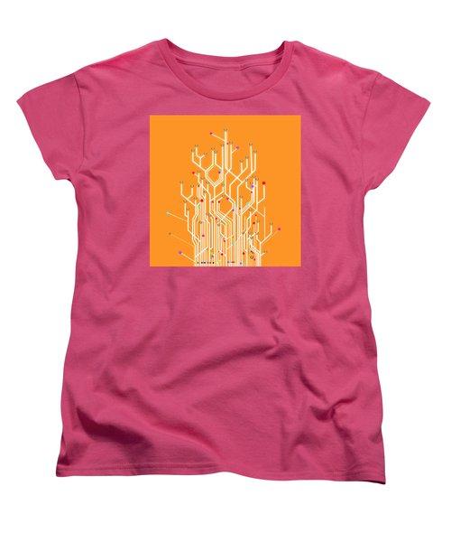 Circuit Board Graphic Women's T-Shirt (Standard Cut) by Setsiri Silapasuwanchai
