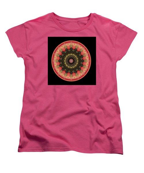 Women's T-Shirt (Standard Cut) featuring the digital art Circularium No 2659 by Alan Bennington