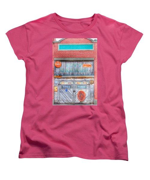 City Garage Women's T-Shirt (Standard Cut) by Toma Caul