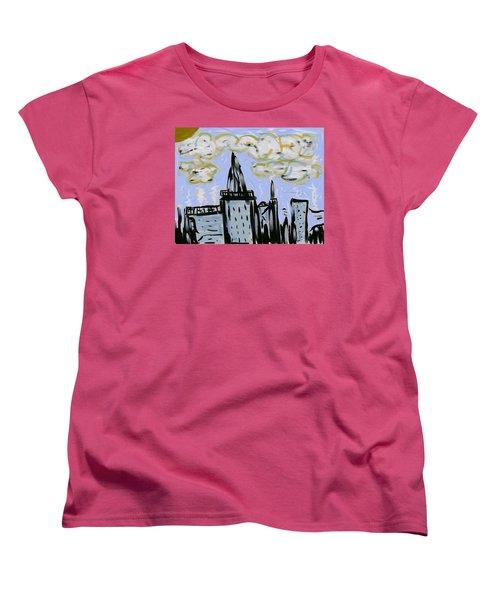City In Blue Women's T-Shirt (Standard Cut) by Dan Twyman