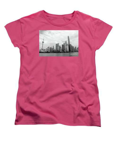 Women's T-Shirt (Standard Cut) featuring the photograph City Skyline by MGL Meiklejohn Graphics Licensing