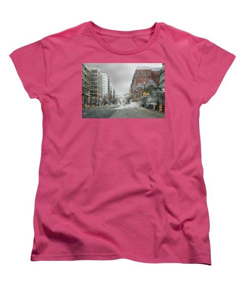 City Street On A Rainy Day Women's T-Shirt (Standard Cut) by Francesa Miller